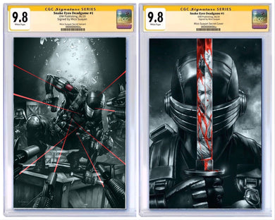 SNAKE EYES DEADGAME #1 BTC EXCLUSIVE SECRET VIRGIN VARIANTS CGC 9.8 SIGNED BY MICO SUAYAN