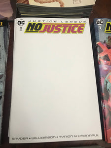 JUSTICE LEAGUE NO JUSTICE #1 (OF 4) BLANK VAR ED  RELEASE DATE 05/09