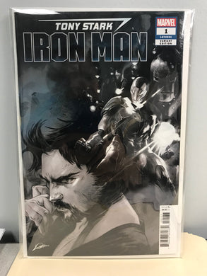 TONY STARK IRON MAN #1 1 PER STORE PARTY SKETCH VARIANT 06/20