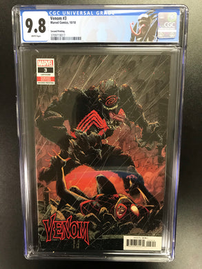 VENOM #3 FIRST OF KNULL 2ND PRINT CGC 9.8 W/VENOM CUSTOM LABEL