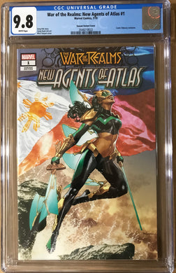 WAR OF REALMS NEW AGENTS OF ATLAS #1 MICO SUAYAN EXCLUSIVE CGC 9.8
