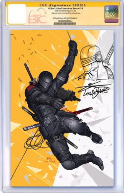 GI JOE A REAL AMERICAN HERO #275  BTC EXCLUSIVE VIRGIN VARIANT CGC 9.6 OR HIGHER SIGNED & REMARKED BY INHYUK LEE