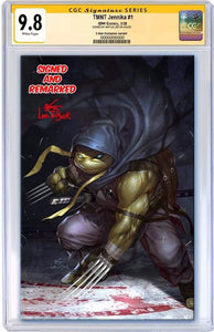 TMNT JENNIKA #1 INHYUK LEE EXCLUSIVE VIRGIN VARIANT RAW, SIGNED, REMARKED & CGC OPTIONS 02/19/20