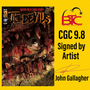 THE DEVILS #2 BTC EXCLUSIVE CGC 9.8 SIGNED BY JOHN GALLAGHER