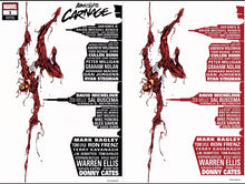 ABSOLUTE CARNAGE #1 MARK BAGLEY SKYLINE EXCLUSIVE TRADE DRESS & VIRGIN OPTIONS