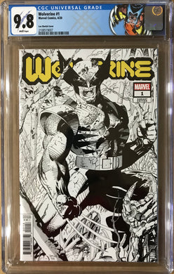 WOLVERINE #1 JIM LEE HIDDEN GEM 1:500 SKETCH VARIANT CGC 9.8 02/19/20 FOC 01/27/19