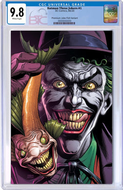 BATMAN THREE JOKERS #1 (OF 3) PREMIUM VAR B JOKER FISH CGC 9.8 10/20
