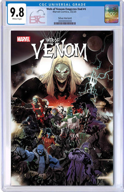 WEB OF VENOM EMPYRES END #1 SILVA 1:50 VARIANT CGC 9.8