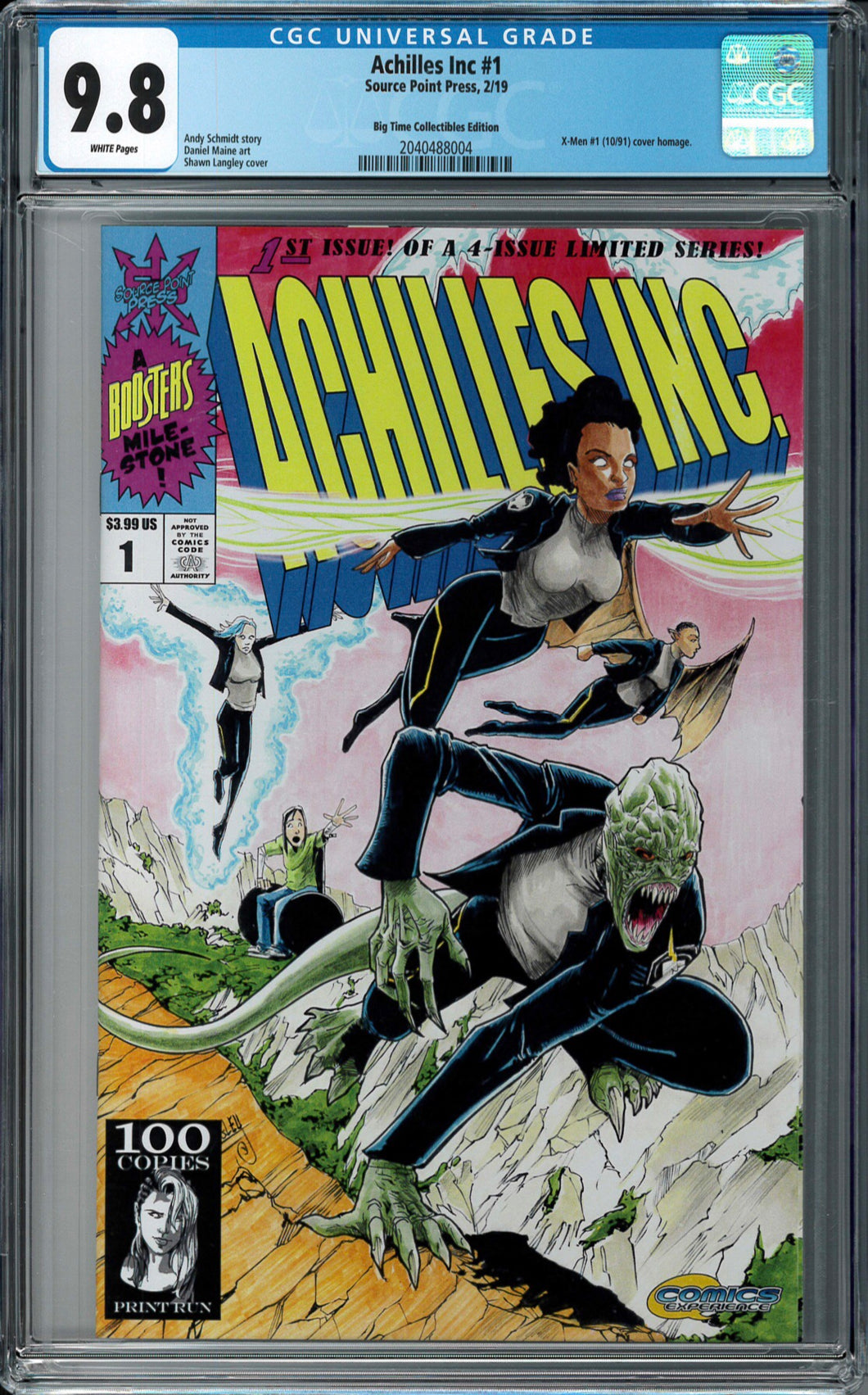 ACHILLES INC #1 BTC EXCLUSIVE CONNECTING VARIANT COVER CGC 9.8 BLUE LABEL