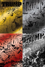 TREMENDOUS TRUMP BTC GOLD, SILVER, RED AND BLACK FOIL EXCLUSIVE COVERS