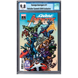 SAVAGE AVENGERS #1 RETAILER SUMMIT 2019 EXCLUSIVE MCKONE VARIANT CGC 9.8 05/08/19