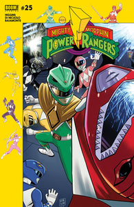 MIGHTY MORPHIN POWER RANGERS #25 SUBSCRIPTION GIBSON VAR SG 03/28/18