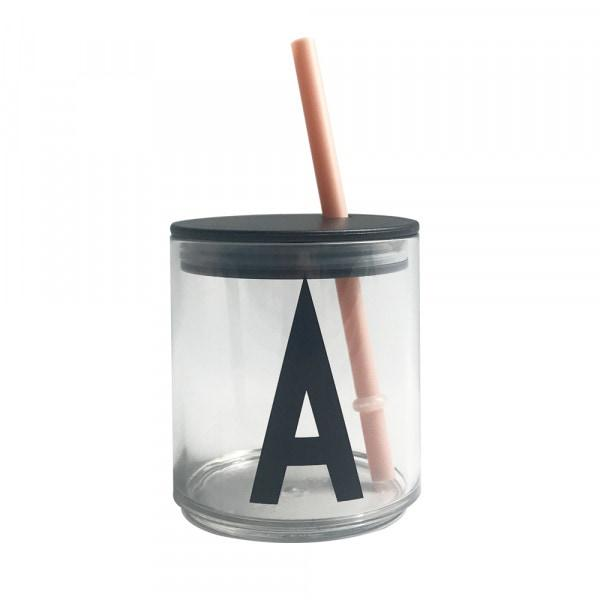 Image of   Design Letters Straw lid (Nude)