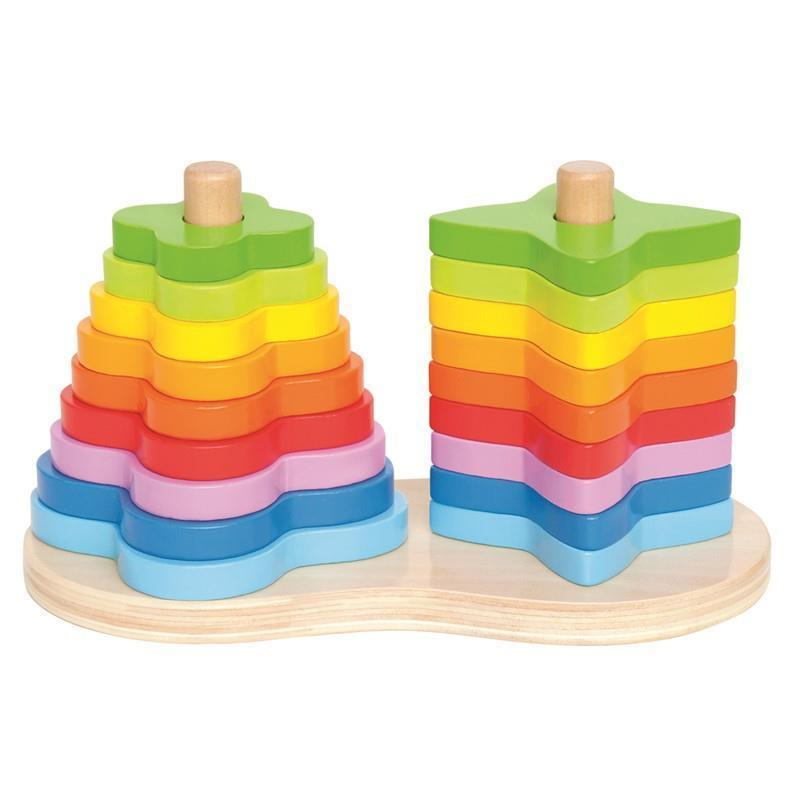Image of   Double Rainbow Stacker fra Hape