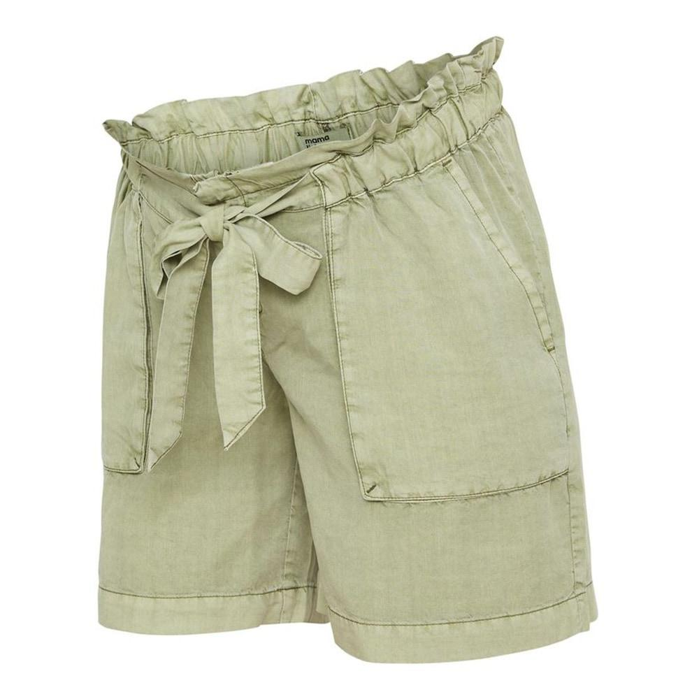 Image of   Mamalicious Bethune graviditets shorts - oliven grøn (Small)