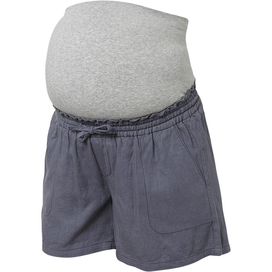 Image of   Mamalicious Linen graviditets shorts - blå (Medium)