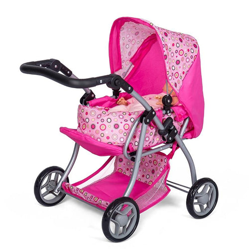 Mini Mommy Dukkevogn med lift i pink
