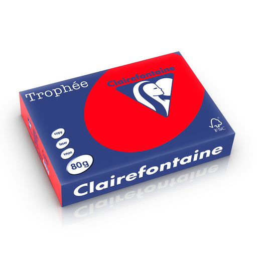 Trophée Clairefontaine, korallenrot, 80g/m², A3