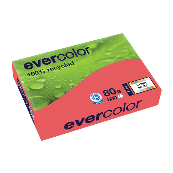 EVERCOLOR, himbeerrot, 80g/m², A4