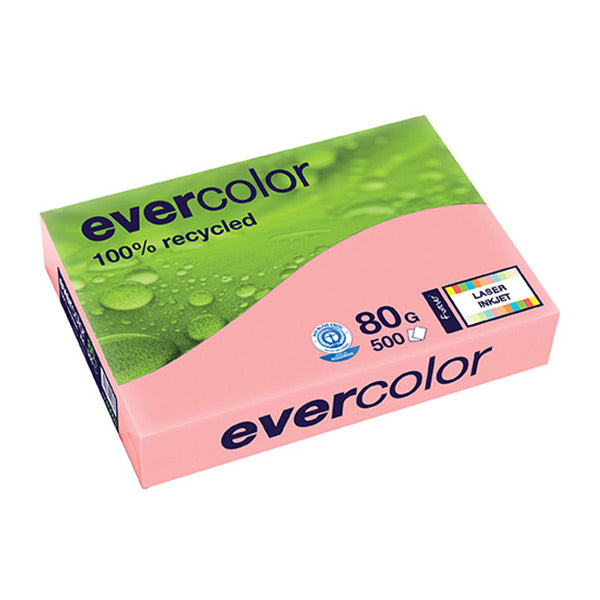 EVERCOLOR, rosa, 80g/m², A4