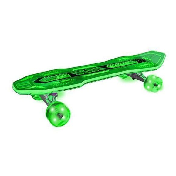 Neon Cruzer Skate Board Green Ride On- Bounce and Swing