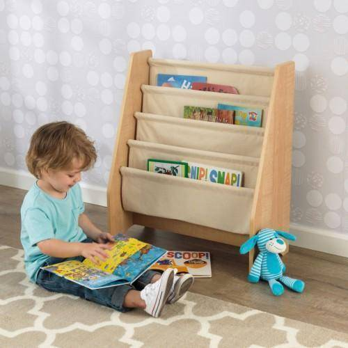 Kidkraft Sling Bookshelf - Natural Furniture- Bounce and Swing