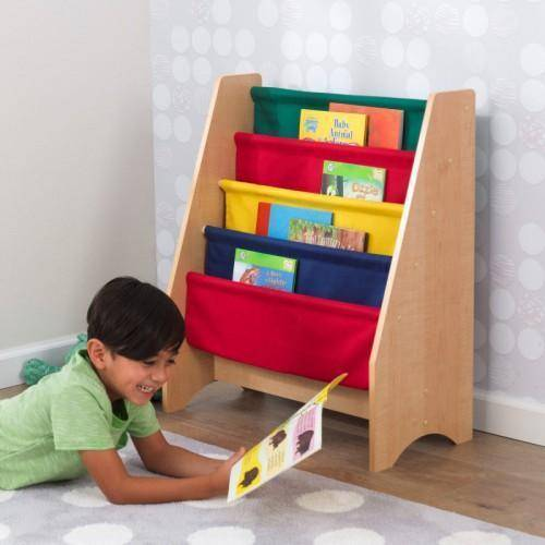 Kidkraft Sling Bookshelf - Primary Furniture- Bounce and Swing