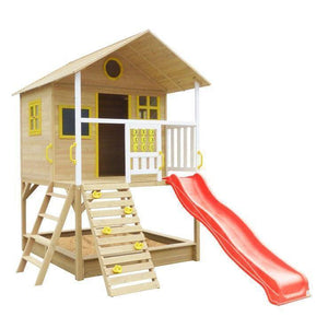 Lifespan Warrigal Cubby House with Red Slide Playhouse- Bounce and Swing