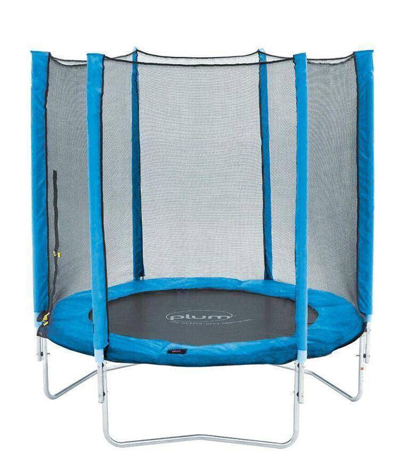 PLUM 6ft Junior Trampoline - Blue Trampolines- Bounce and Swing