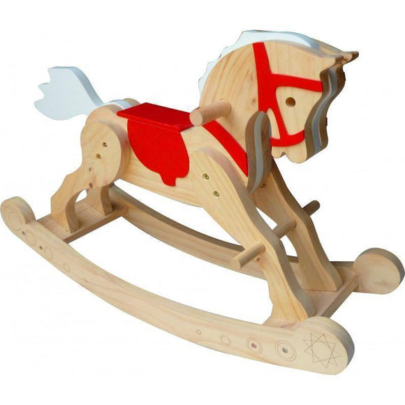 QToys Solid Wooden Rocking Horse Play Sets- Bounce and Swing