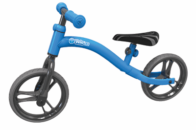 Y Velo Air Balance Bike Blue Ride On- Bounce and Swing
