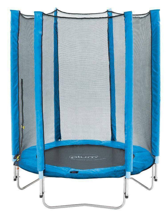 PLUM 4.5ft Junior Trampoline - Blue Trampolines- Bounce and Swing