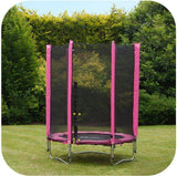 PLUM 4.5ft Junior Trampoline - Pink Trampolines- Bounce and Swing