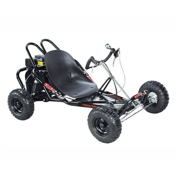 GMX 200cc Drift Go Kart Electric Start - Black Kids Ride On