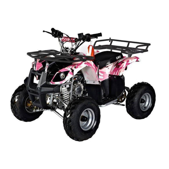 GMX Mudder JNR 125cc Farm ATV Camo Pink Ride On