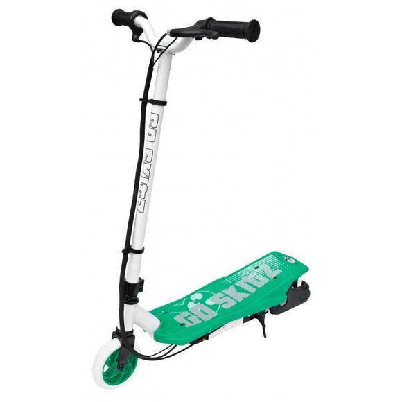 Go Skitz 1.0 Electric Scooter - White/Green Kids Ride On
