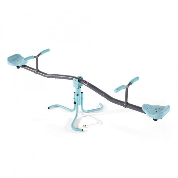 PLUM Premium Metal Rotating See Saw with Mist Sliders&Swings- Bounce and Swing