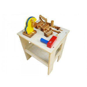 QToys Wooden Work Bench Play Sets- Bounce and Swing