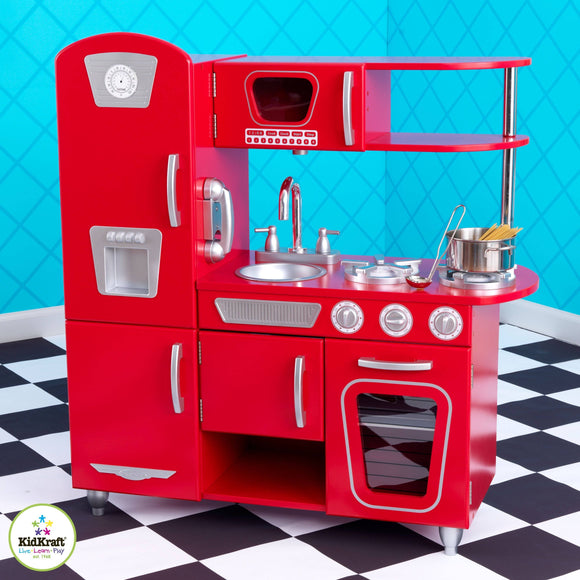 Kidkraft Red Vintage Kitchen Play Sets- Bounce and Swing