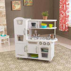 Kidkraft White Vintage Kitchen Play Sets- Bounce and Swing