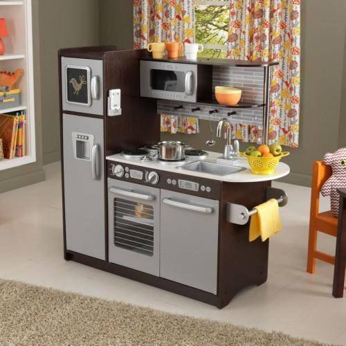 Kidkraft Uptown Espresso Kitchen Play Sets- Bounce and Swing