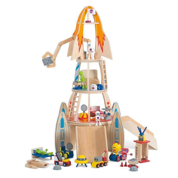 PLUM Super Space Rocket Play Sets- Bounce and Swing
