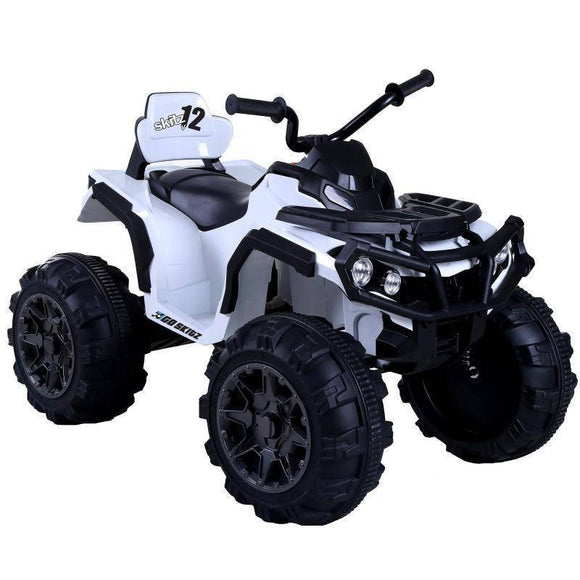 Go Skitz Adventure Electric Quad Bike - White Kids Ride On