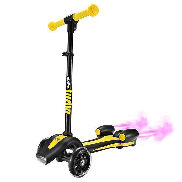 Go Skitz Turbo 3 Wheeler Scooter - Yellow Kids Ride On