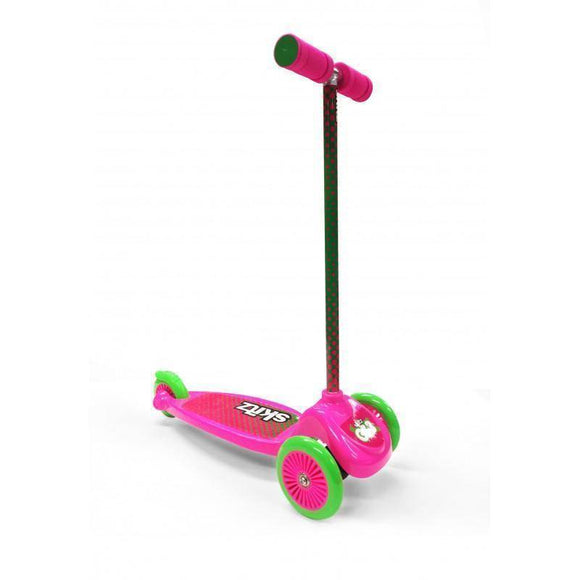 Go Skitz GS3 3 Wheeler Scooter - Pink/Green Kids Ride On