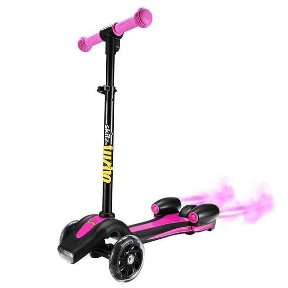 Go Skitz Turbo 3 Wheeler Scooter - Pink Kids Ride On