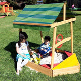 Lifespan Explorer Boat Sandpit with Cover Outdoor Play- Bounce and Swing