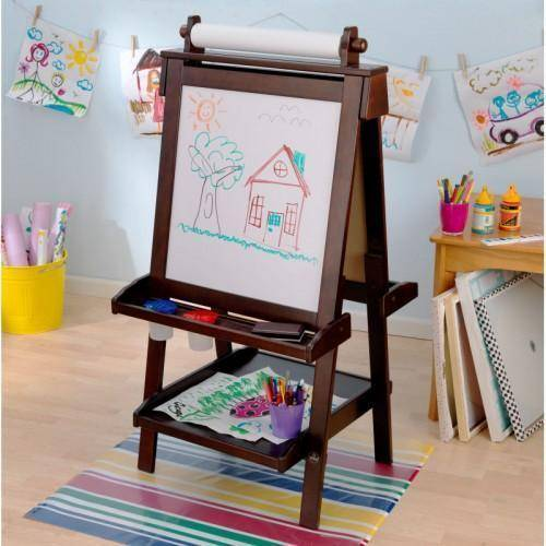 Kidkraft Deluxe Espresso Wooden Easel Art&Craft- Bounce and Swing