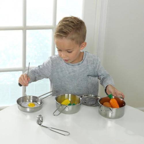 Kidkraft Deluxe Cookware Set with Food Play Sets- Bounce and Swing
