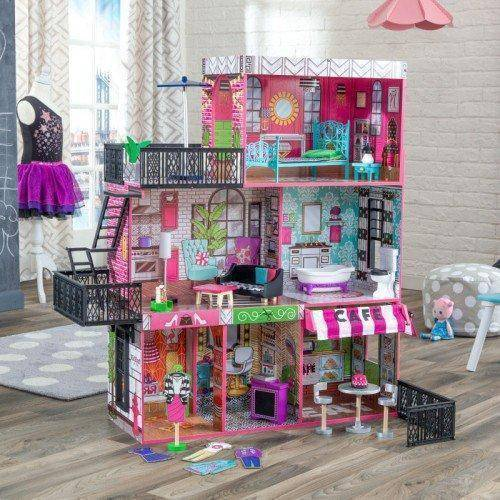 Kidkraft Brooklyn's Loft Dollhouse Play Sets- Bounce and Swing
